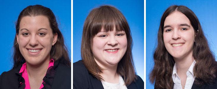 2016 Honors Scholars - Alison Dial, Taylor Morris & Taylor Yates