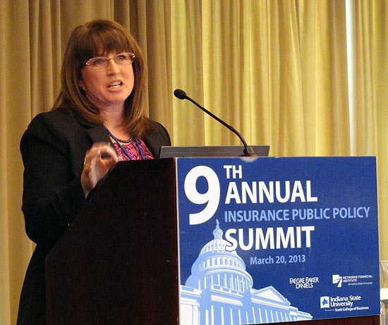 Monica Lindeen at 2013 9th Annual NFI Insurance Summit