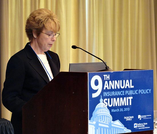 Elizabeth Sammis at 2013 9th Annual NFI Insurance Summit