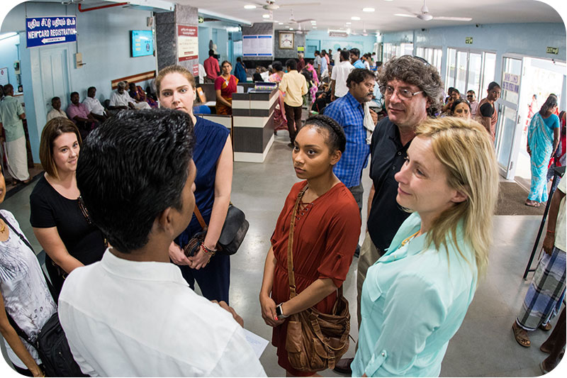 Students visit Aravind eye hospital in India