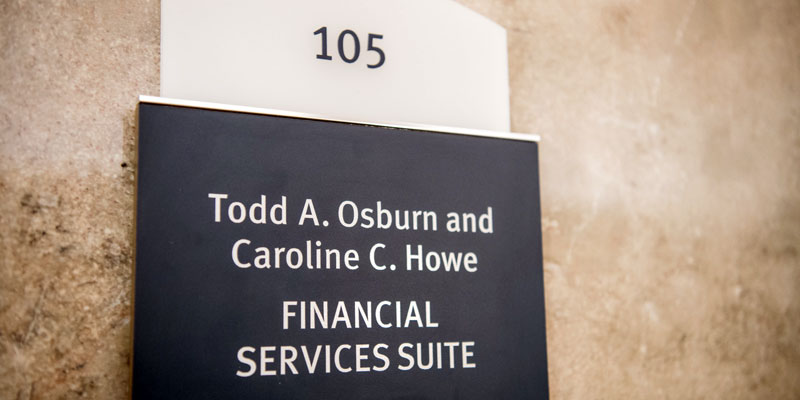 FD105 - Todd A. Osburn and Caroline C. Howe Financial Services Suite