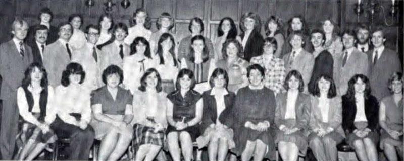 Delta Sigma Pi, Delta Tau chapter, 1982
