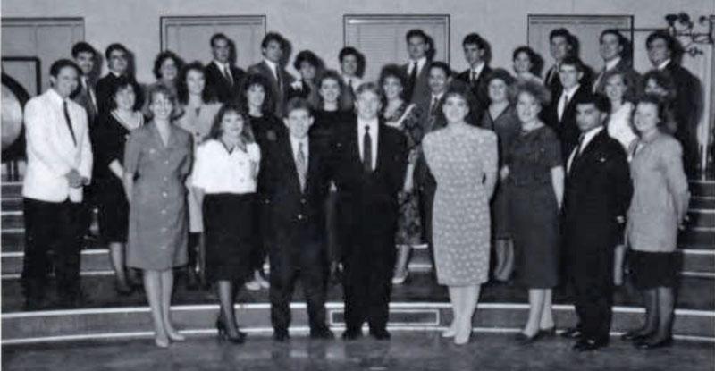 Delta Sigma Pi, Delta Tau chapter, 1992