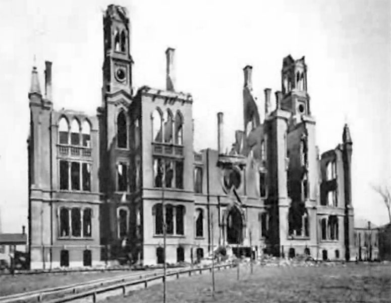 ISNS after the fire of April 8, 1888