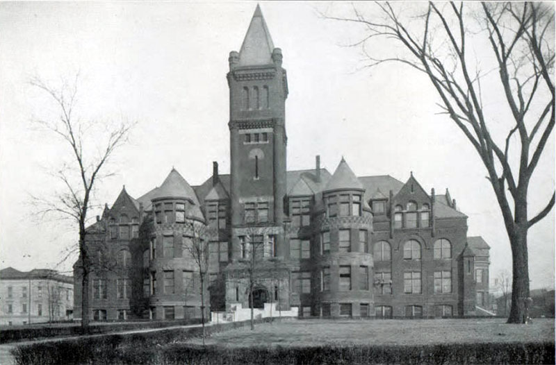 Old Main, Indiana State Normal School, 1917