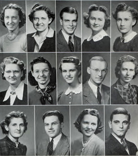 Pi Omega Pi, Chi Chapter, 1940