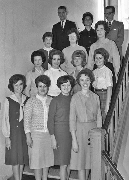 Pi Omega Pi, Chi Chapter, 1965