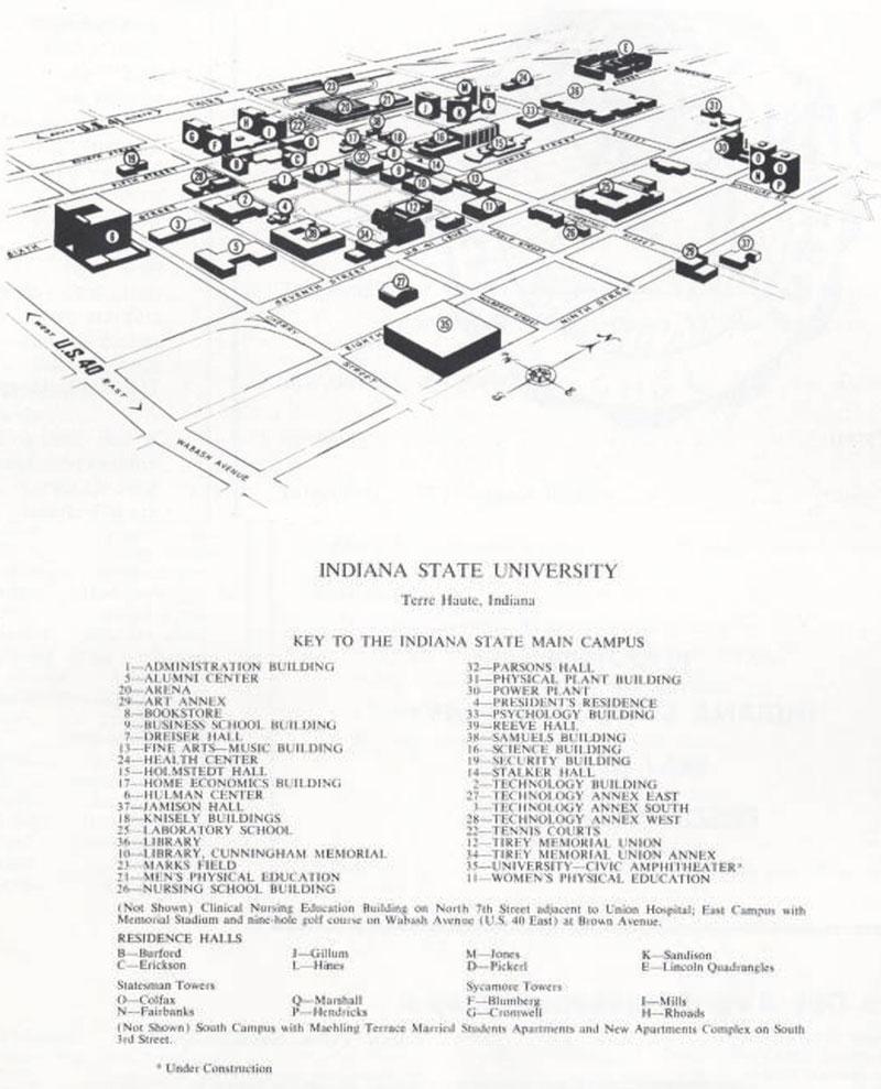 1973 Campus Map
