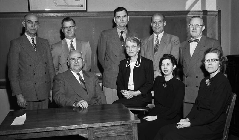 Commerce faculty, October 19, 1954