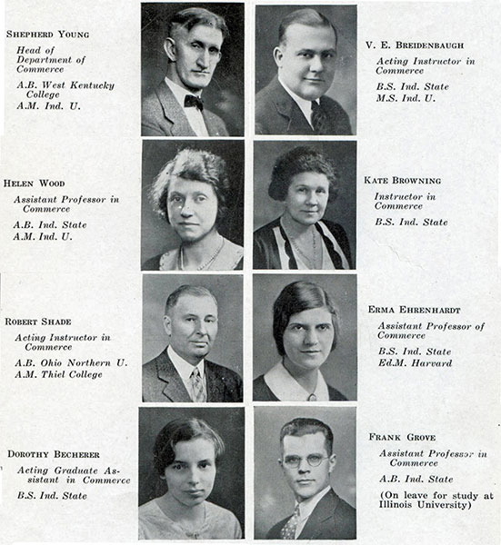 Commerce Faculty 1932