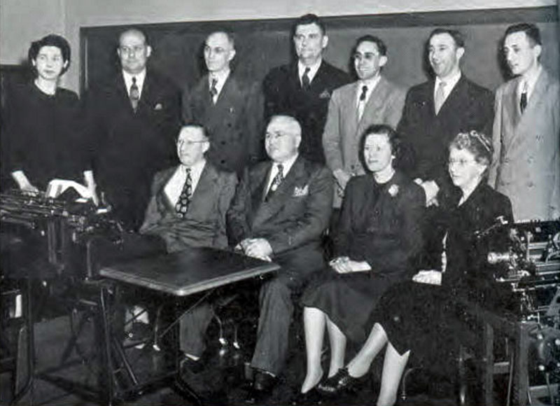 Commerce Faculty 1950