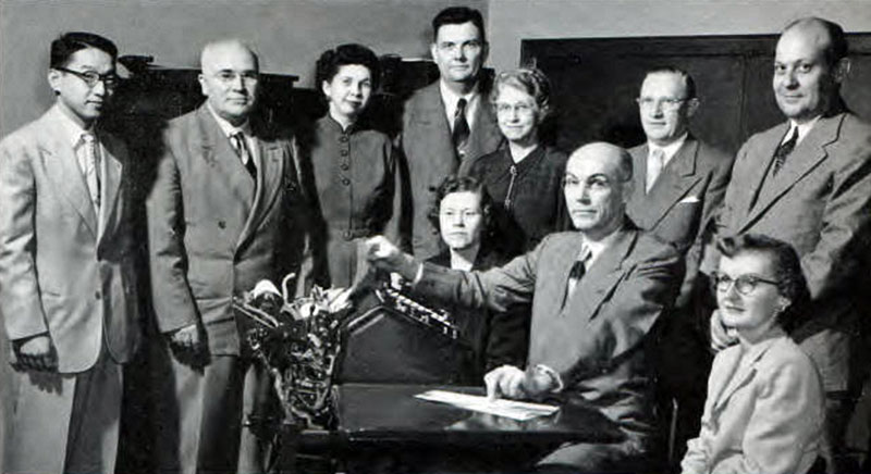 Commerce Faculty 1952