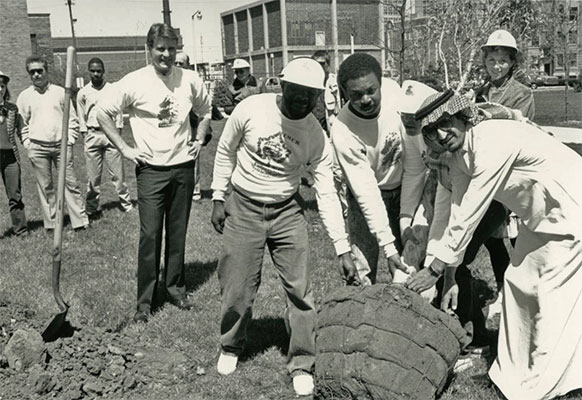 Donaghy Day tree planting, 1988