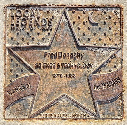 Fred Donaghy's Walk of Fame plaque