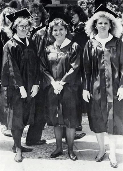 Kim Schmidt, Jenifer Dole and Ginger Hoagland, 1990