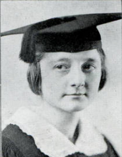 Erma Ruth Mewhinney, 1921