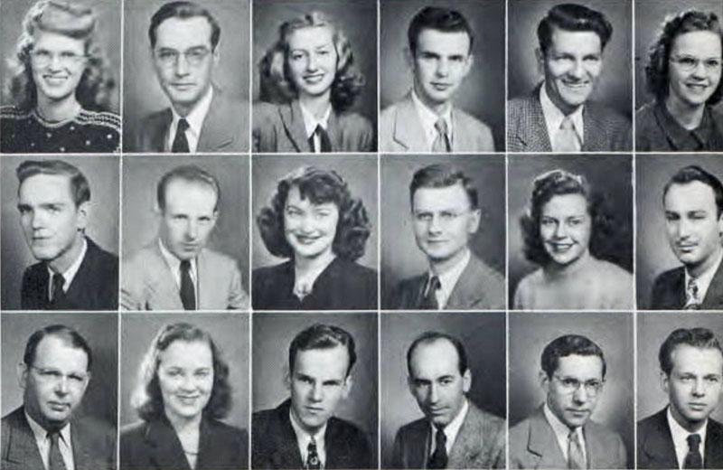Pi Omega Pi, Chi Chapter, 1948