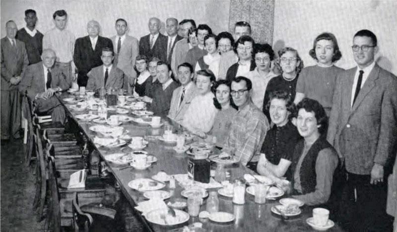 Pi Omega Pi, Chi Chapter, 1957