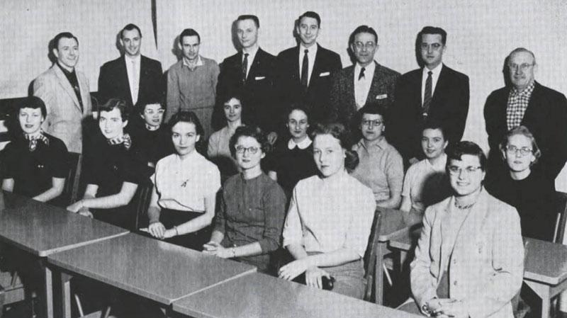 Pi Omega Pi, Chi Chapter, 1958