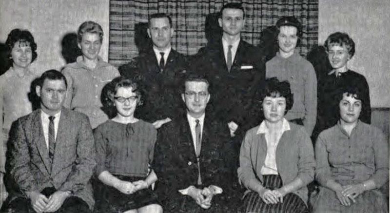 Pi Omega Pi, Chi Chapter, 1963