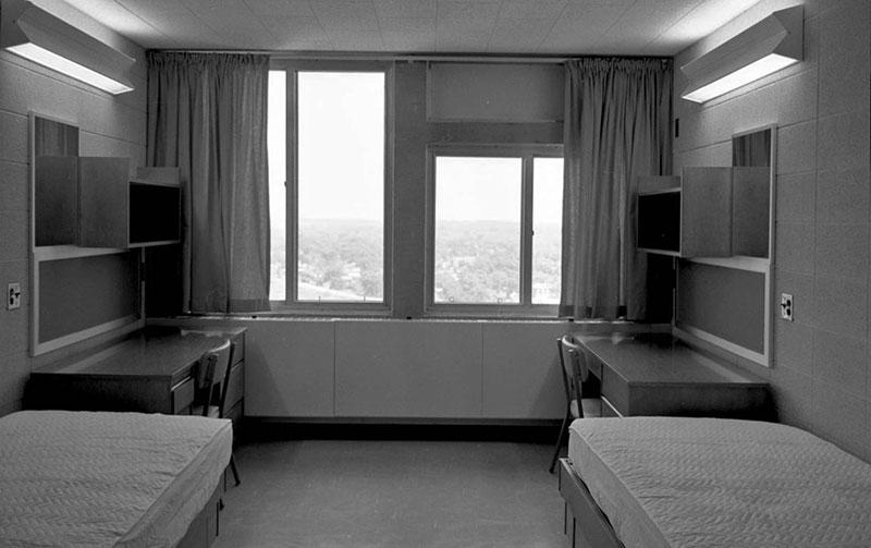 Statesman Towers, dorm room, August 22, 1968