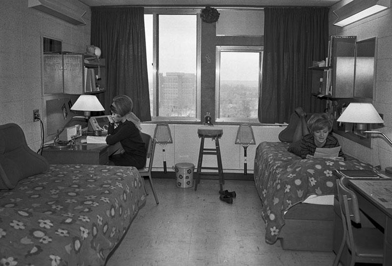 Statesman Towers, dorm room, August 28, 1968