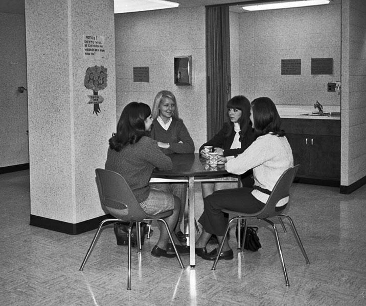 Statesman Towers, floor lounge, October 28, 1968