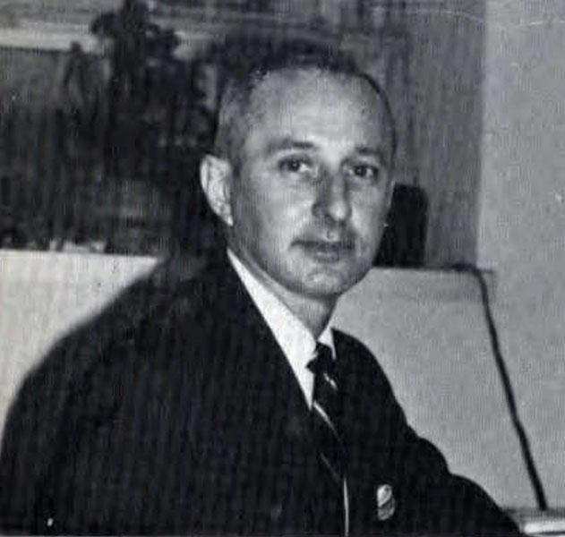 Robert Steinbaugh, chairman of the Business Department, 1966