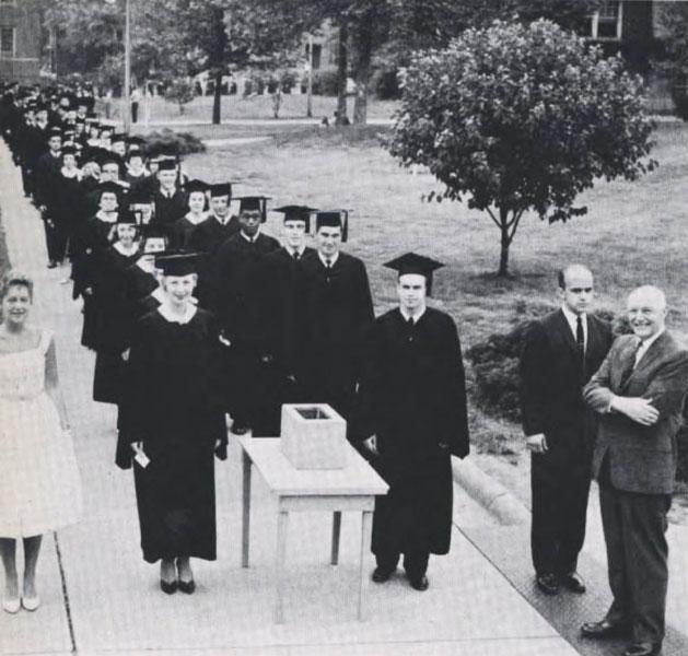 Graduation tradition, 1960