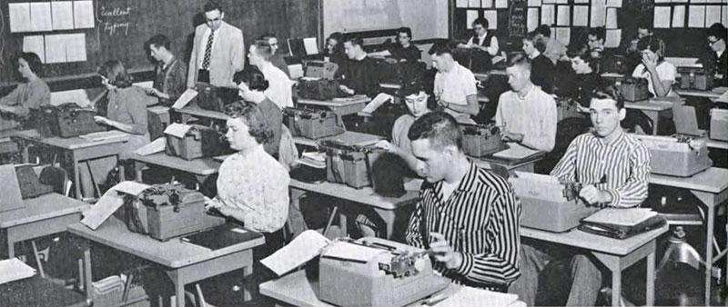 Typing, 1958