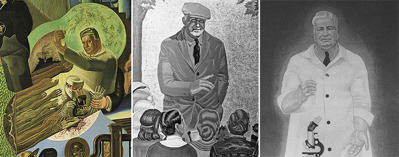 Gil Wilson murals depicting Fred Donaghy