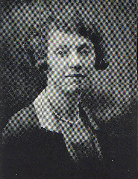 Helen Wood, instructor in commerce, 1929