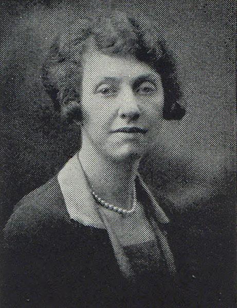 Helen Wood, instructor in commerce, 1929