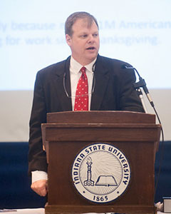 Robert Guell, professor of economics at Indiana State University