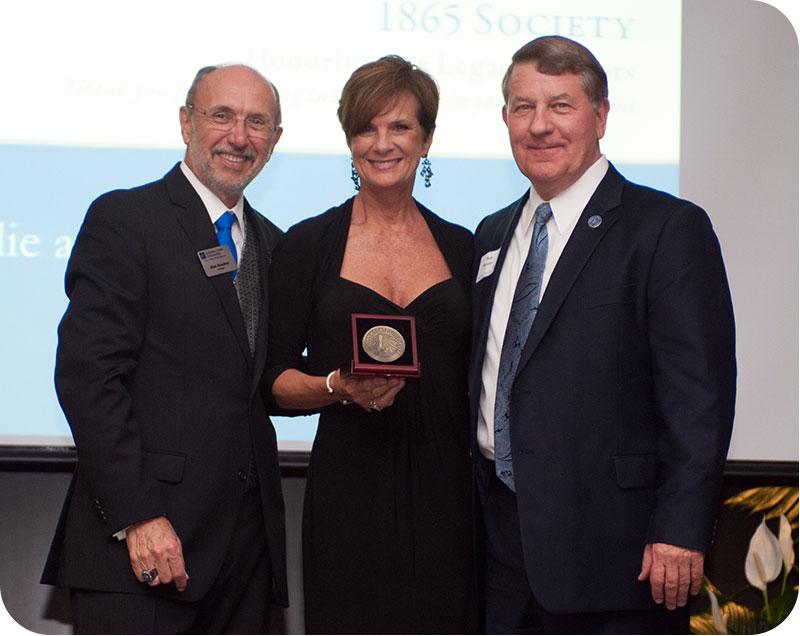 Bob and Julie Baesler with Dan Bradley