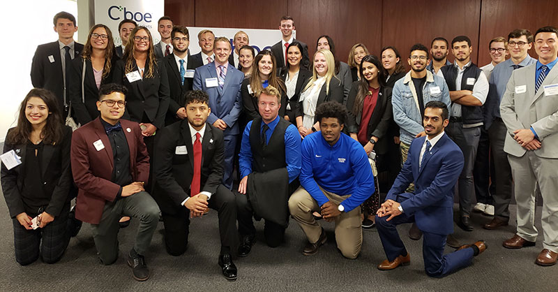 Indiana State students at CBOE during SMIFC2018