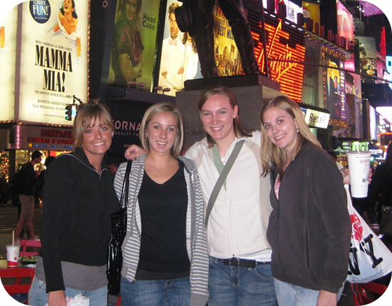Scholars in Times Square, NYC