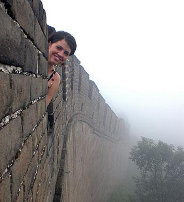 Erin Braun on The Great Wall, China