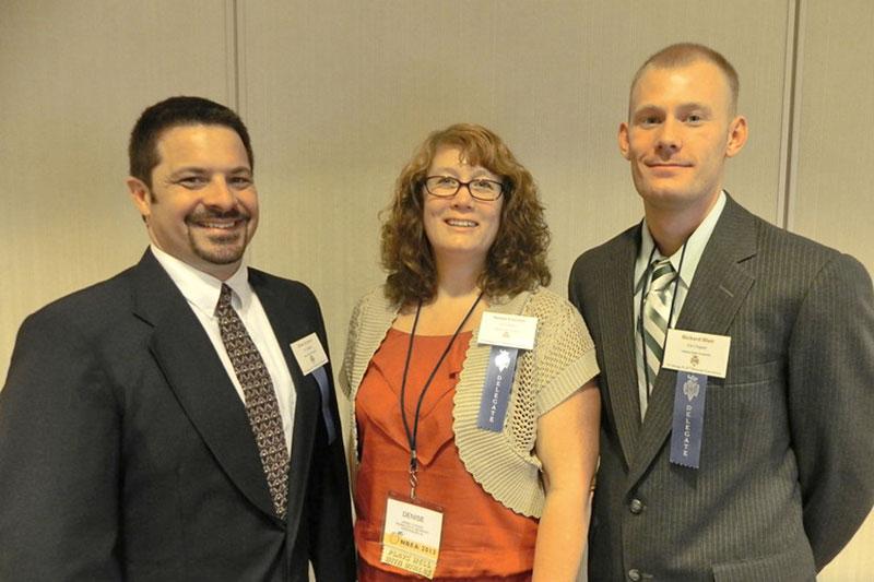 Brian Krawiec (left), Denise Current and Craig Blair
