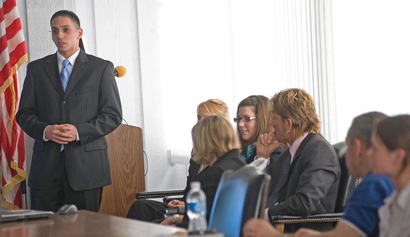 Xavier Romero, a senior marketing major and a team leader for Sycamore Business Advisors