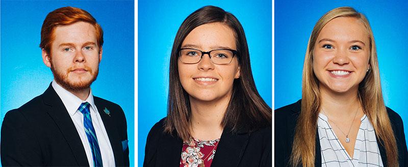 Thomas Stucker, Michelle Chew, and Lauren Hemmen