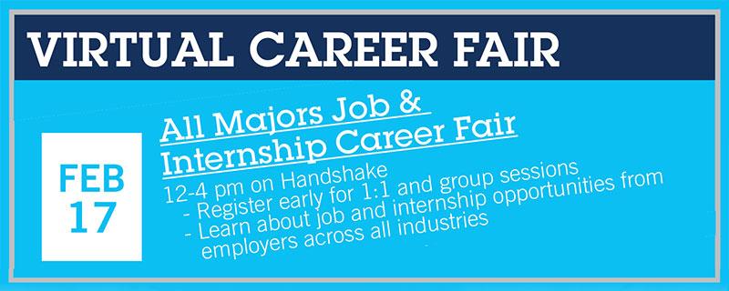 Career Center Career Fair, February 17, 2021