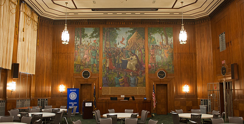 Kenneth L. Smith and Theresa Kathryn (Klein) Smith Magna Carta Courtroom mural