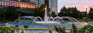Dede Fountain at sunset