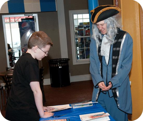 Ben Franklin Visits Terre Haute Children's Museum