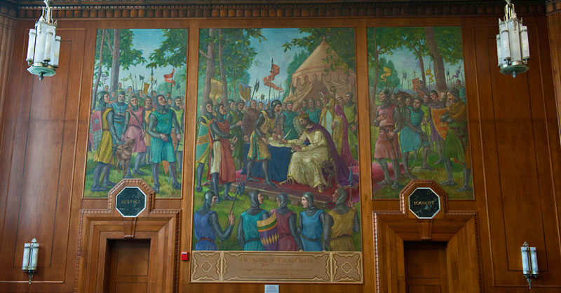 Courtroom, Federal Hall - Magna Carta Mural