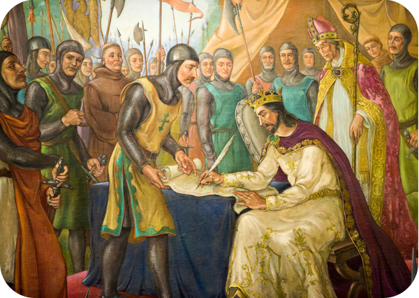 Signing of the Magna Carta mural