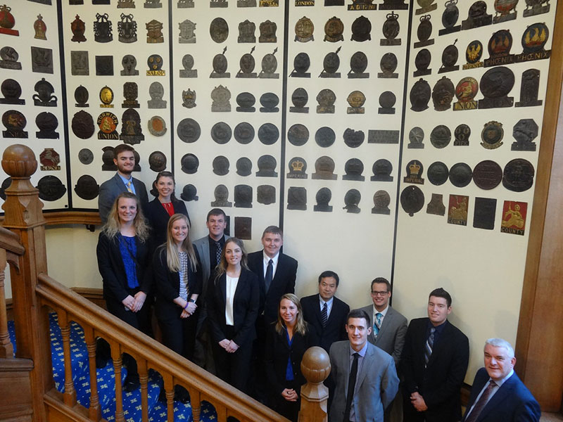 Insurance students at the Chartered Insurance Institute, London