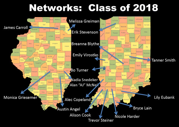 Class of 2018 NFI Scholars Hometowns