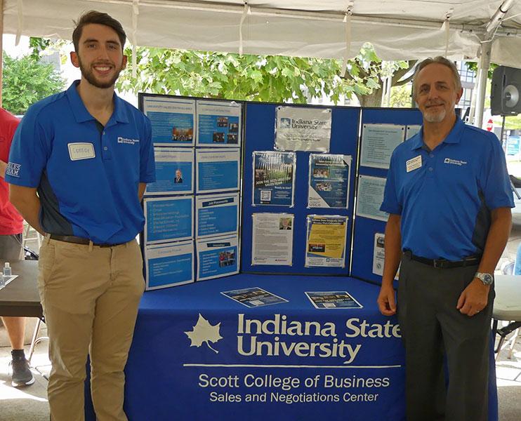 Sales and Negotiations Center at the college picnic, August 2021